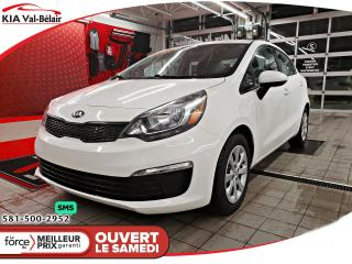 Used 2016 Kia Rio *LX*COMMANDE AUDIO AU VOLANT*BAS KM* for sale in Québec, QC