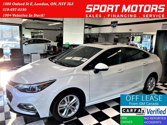 2018 Chevrolet Cruze LT RS PKG+Roof+Blind Spot+Apple Play+ACCIDENT FREE
