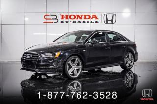 Used 2016 Audi A3 2.0T + PROG + S-LINE + AWD + WOW! for sale in St-Basile-le-Grand, QC