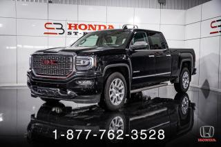 Used 2017 GMC Sierra 1500 DENALI + 6.2L + CREW + CUIR + WOW! for sale in St-Basile-le-Grand, QC
