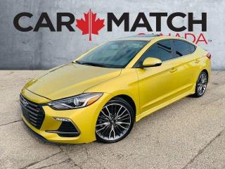 Used 2018 Hyundai Elantra SPORT TECH / ALLOYS / LEATHER / ROOF for sale in Cambridge, ON