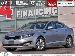 Used 2013 Kia Optima EX+ | PANORAMIC ROOF | LEATHER | BACKUP CAM for sale in St Catharines, ON