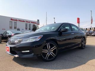 Used 2017 Honda Accord Sedan Touring -  Navi - Leather - Sunroof - Rear Camera for sale in Mississauga, ON