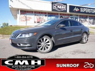 Used 2013 Volkswagen Passat CC Highline  CAM ROOF LEATH HTD-SEATS 18-AL for sale in St. Catharines, ON