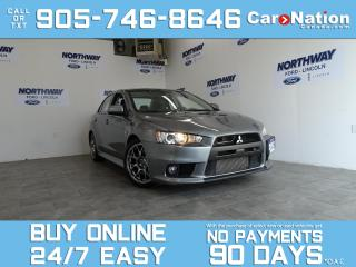 Used 2012 Mitsubishi Lancer Evolution MR | AWD | LEATHER | SUNROOF | NAV | ONLY 50 KM! for sale in Brantford, ON