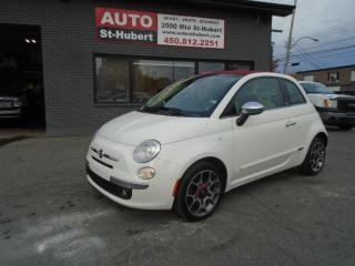 Used 2012 Fiat 500 C Convertible Lounge for sale in St-Hubert, QC