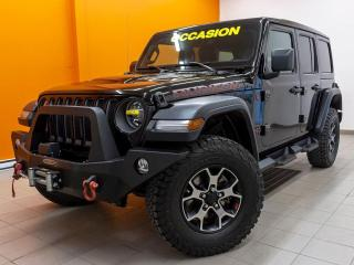 Used 2019 Jeep Wrangler RUBICON 4X4 SIÈGES / VOLANT CHAUFFANT NAV *CUIR* for sale in Mirabel, QC