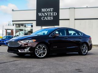 Used 2019 Ford Fusion Hybrid TITANIUM|HYBRID|BLIND|ACC|SUNROOF|SENSORS|LEATHER|COOLED SEATS for sale in Kitchener, ON