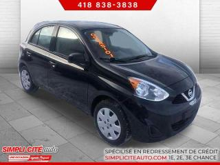 Used 2016 Nissan Micra SV  ECONOMIQUE A BAS PRIX INSPECTE ET GA for sale in Lévis, QC