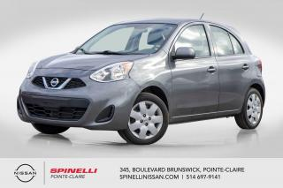 Used 2017 Nissan Micra SV DÉMARREUR A DISTANCE / BLUETOOTH / GROUPE ÉLÉCTRIQUE / A/C / CRUISE CONTROL for sale in Montréal, QC