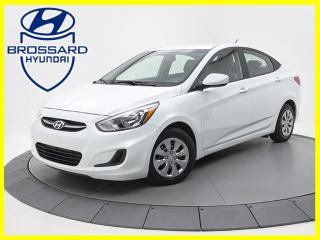 Used 2016 Hyundai Accent GL BLUETOOTH SIÈGES CHAUFFANTS BAS KILO for sale in Brossard, QC