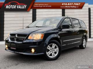 Used 2013 Dodge Grand Caravan Crew Plus NAVIGATION - LEATHER LOADED! for sale in Scarborough, ON