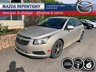 Used 2013 Chevrolet Cruze LT TURBO CRUISE BLUETOOTH 53.66$/SEMAINE for sale in Repentigny, QC