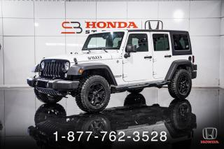 Used 2015 Jeep Wrangler WILLYS + UNLIMITED SPORT + 4X4 + WOW! for sale in St-Basile-le-Grand, QC
