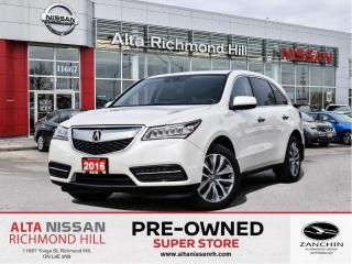 Used 2016 Acura MDX NAV PKG   Remote Start   Heated Steer   Blind Spot for sale in Richmond Hill, ON