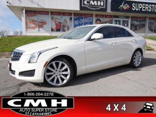 Used 2014 Cadillac ATS 2.0 Turbo Luxury  AWD NAV CAM ROOF HTD-S/W for sale in St. Catharines, ON