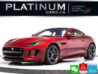 Used 2017 Jaguar F-Type R, 550HP, COUPE, AWD, NAV, PANO, CAM, MERIDAN, BT for sale in Toronto, ON