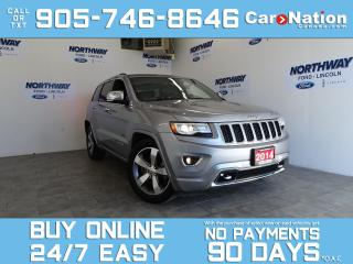 Used 2014 Jeep Grand Cherokee OVERLAND | DIESEL | 4X4 | LEATHER | ROOF | NAV for sale in Brantford, ON