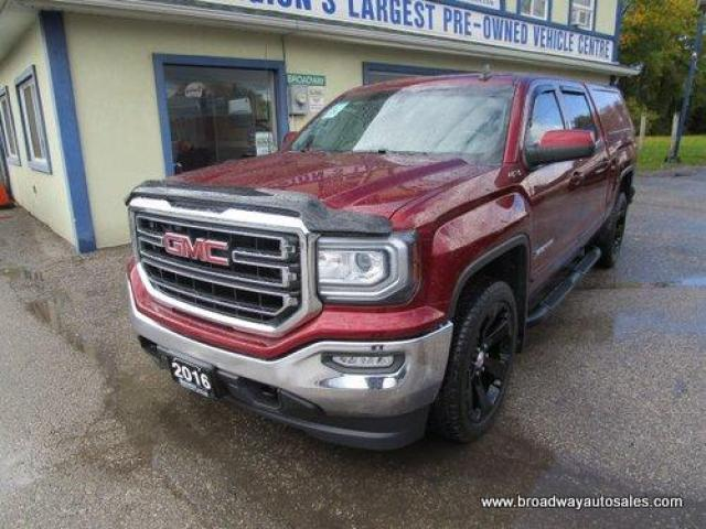 2016 GMC Sierra 1500 LOADED SLE EDITION 6 PASSENGER 5.3L - V8.. 4X4.. CREW-CAB.. SHORTY.. NAVIGATION.. LEATHER.. HEATED SEATS.. BACK-UP CAMERA.. POWER PEDALS..