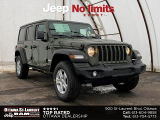 New 2021 Jeep Wrangler Unlimited Sport UNLIMITED SPORT 'S' 4X4 for sale in Ottawa, ON