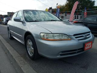 Used 2002 Honda Accord EX-CERTIFIED-EXTRA CLEAN-LEATHER-SUNROOF-ALLOYS for sale in Scarborough, ON