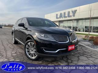 Used 2018 Lincoln MKX Reserve, AWD, Moonroof, Nav, Local Trade!! for sale in Tilbury, ON