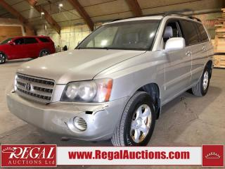 Used 2001 Toyota Highlander 4D Utility FWD for sale in Calgary, AB