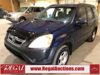 Used 2003 Honda CR-V 4D SPORT UTILITY 4WD for sale in Calgary, AB
