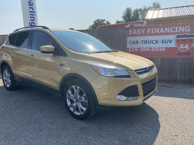 2014 Ford Escape SE Route 24 Karat Gold, Leather, panoramic roof, call/text 519-732-7478