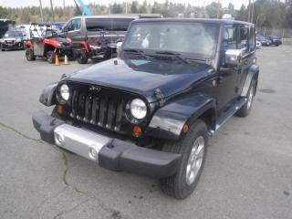 Used 2013 Jeep Wrangler Unlimited Sahara 4WD Manual for sale in Burnaby, BC