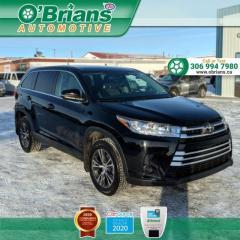 Used 2019 Toyota Highlander LE w/Mfg Warranty, AWD, Third-row Seating, Backup Camera, Lane D for sale in Saskatoon, SK
