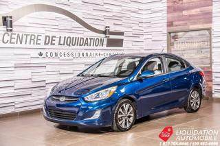 Used 2016 Hyundai Accent GLS+TOIT+GR/ ELECT+SIEGES/CHAUFF+BLUETOOTH for sale in Laval, QC