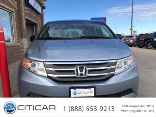 Used 2012 Honda Odyssey 2012 HONDA ODYSSEY EX-L*PREM LEATHER*SUNROOF*RCAM for sale in Winnipeg, MB