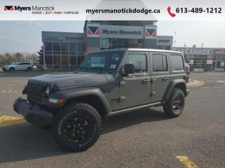 New 2021 Jeep Wrangler Willys  -  Uconnect - $304 B/W for sale in Ottawa, ON