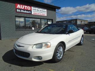 Used 2001 Chrysler Sebring Limited Convertible for sale in St-Hubert, QC