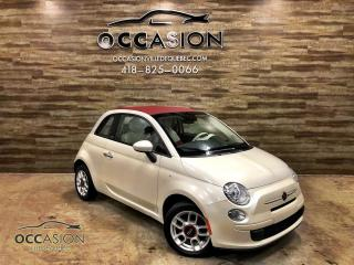 Used 2013 Fiat 500 C Décapotable Pop AUTOMATIQUE 57235km for sale in Ste-Brigitte-de-Laval, QC