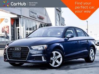 Used 2017 Audi A3 2.0T Komfort Quattro Sunroof Heated Front Seats Bluetooth for sale in Thornhill, ON
