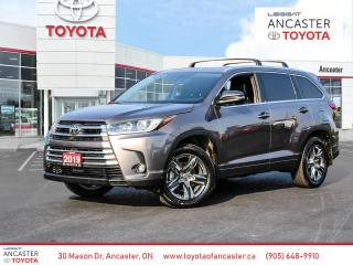 Used 2019 Toyota Highlander LIMITED  for sale in Ancaster, ON