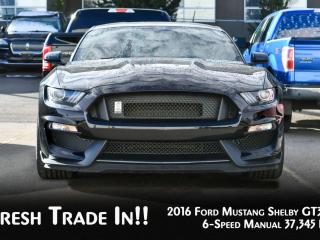 Used 2016 Ford Mustang SHELBY GT350 RWD FASTBACK 6-SPEED MANUAL * CLEAN CARFAX* for sale in Red Deer, AB