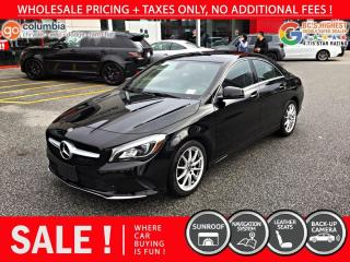 Used 2018 Mercedes-Benz CLA-Class CLA 250 4MATIC - No Accident / Nav / Sunroof for sale in Richmond, BC