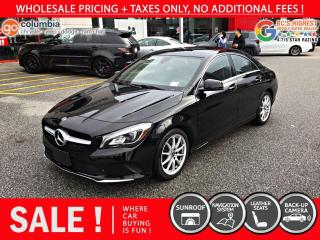 Used 2018 Mercedes-Benz CLA-Class CLA 250 4MATIC - Nav / Leather / Sunroof for sale in Richmond, BC