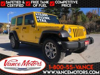 Used 2015 Jeep Wrangler Unlimited Rubicon 4x4...LEATHER*DUAL TOP*HTD SEATS! for sale in Bancroft, ON
