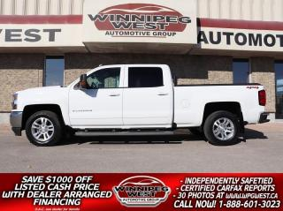 Used 2018 Chevrolet Silverado 1500 LT CREW 5.3L 4X4 MAX TOW PKG, HTD SEATS & MORE for sale in Headingley, MB