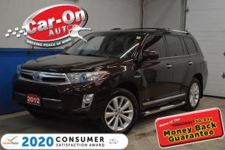 Used 2012 Toyota Highlander HYBRID LIMITED AWD NAVIGATION 7 PASS for sale in Ottawa, ON