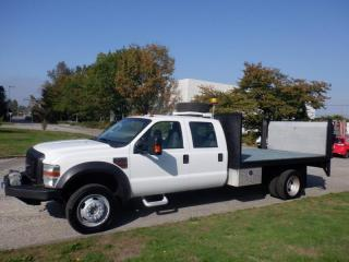 Used 2010 Ford F-450 SD Flat Deck  12 foot Crew Cab 4WD Power Tailgate Diesel And Winch for sale in Burnaby, BC