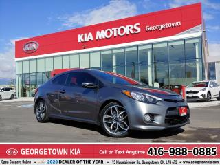 Used 2016 Kia Forte Koup SX | CLEAN CARFX | M/T | ROOF | B/U CAM | 66,990KM for sale in Georgetown, ON