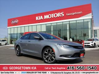 Used 2016 Chrysler 200 S | LTHR | NAV | ROOF | BU CAM | HTD STS |88,163KM for sale in Georgetown, ON