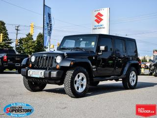 Used 2013 Jeep Wrangler Sahara 4x4 ~Nav ~Leather ~Painted Top ~Soft Top for sale in Barrie, ON