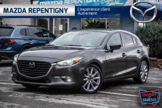Used 2017 Mazda MAZDA3 GT SPORT CUIR BLANC GPS TOIT 60.39$/SEM for sale in Repentigny, QC