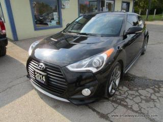 Used 2014 Hyundai Veloster LOADED TURBO-MODEL 5 PASSENGER 1.6L - DOHC.. ACTIVE-ECO-PACKAGE.. NAVIGATION.. LEATHER.. HEATED SEATS & WHEEL.. BACK-UP CAMERA.. PANORAMIC SUNROOF.. for sale in Bradford, ON